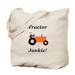 Orange Tractor Junkie Tote Bag