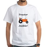 Orange Tractor Junkie White T-Shirt