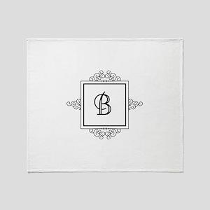 Fancy letter B monogram Throw Blanket