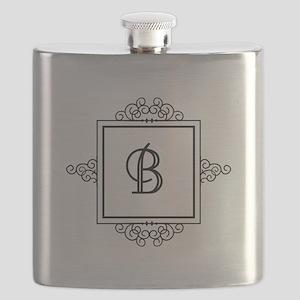 Fancy letter B monogram Flask