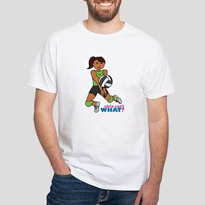 Volleyball Player Dark White T-Shirt