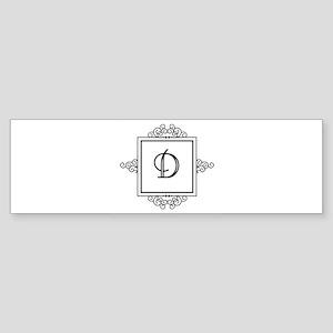 Fancy letter D monogram Bumper Sticker