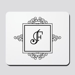 Fancy letter F monogram Mousepad