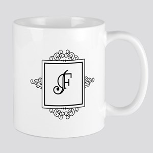 Fancy letter F monogram Mugs