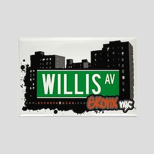Willis Av, Bronx, NYC Rectangle Magnet