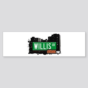 Willis Av, Bronx, NYC Bumper Sticker