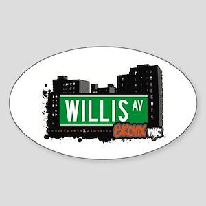 Willis Av, Bronx, NYC Oval Sticker