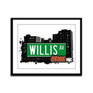Willis Av, Bronx, NYC Framed Panel Print