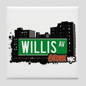 Willis Av, Bronx, NYC Tile Coaster