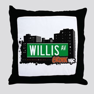 Willis Av, Bronx, NYC Throw Pillow