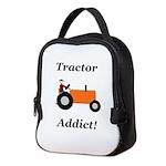 Orange Tractor Addict Neoprene Lunch Bag