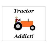 Orange Tractor Addict Small Poster