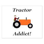 Orange Tractor Addict Small Poster