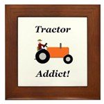 Orange Tractor Addict Framed Tile