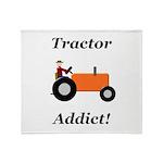Orange Tractor Addict Throw Blanket
