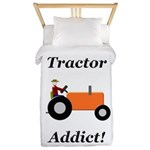 Orange Tractor Addict Twin Duvet