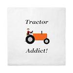 Orange Tractor Addict Queen Duvet