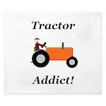 Orange Tractor Addict King Duvet