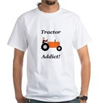 Orange Tractor Addict White T-Shirt