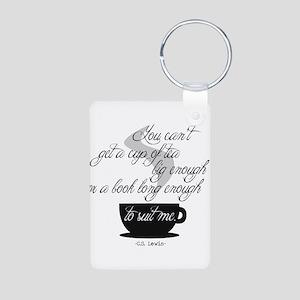A Cup of Tea Aluminum Photo Keychain