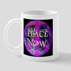 Peace Now Earth Symbol Mug