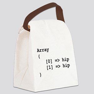 Hip Hip Hooray Programming Array Canvas Lunch Bag