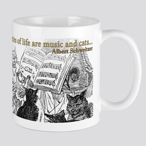 Cats and Music are the escape from life! Mugs