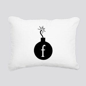 Drop the F Bomb Rectangular Canvas Pillow