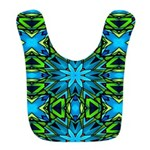 Blue and Green Stained Glass Bib