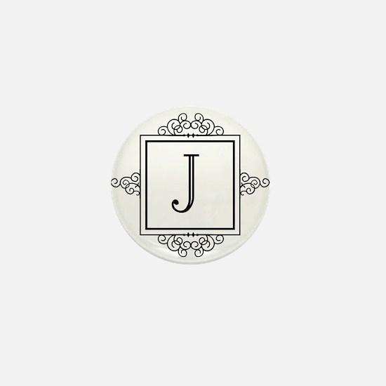 Fancy letter J monogram Mini Button