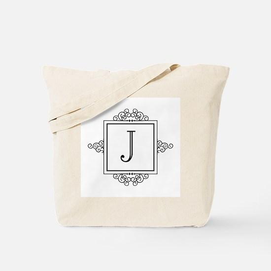 Fancy letter J monogram Tote Bag