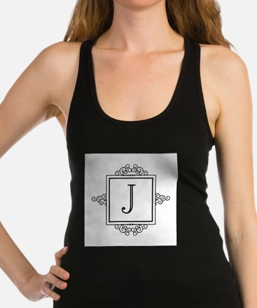Fancy letter J monogram Racerback Tank Top