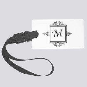 Fancy letter M monogram Large Luggage Tag
