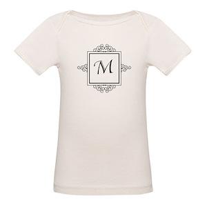 b40d92edab1e Initial M Organic Baby T-Shirts - CafePress