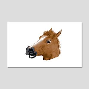 Horse Head Creepy Mask Car Magnet 20 x 12