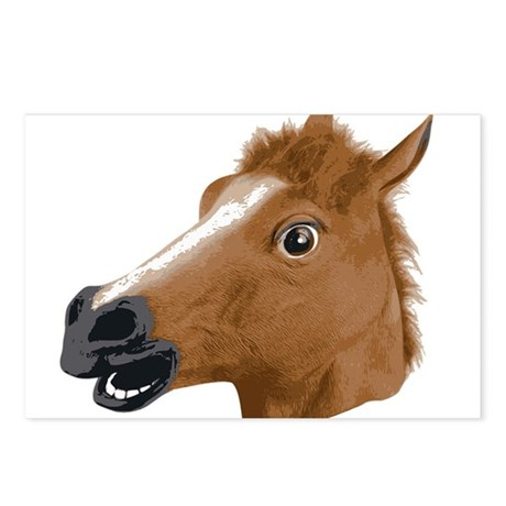 Horse Head Creepy Mask Postcards (Package of 8)