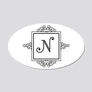 Fancy letter N monogram Wall Sticker