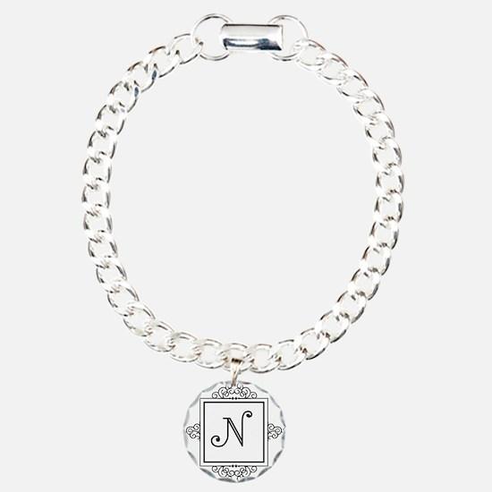 Fancy letter N monogram Bracelet