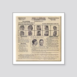 Clyde Barrow Wanted Poster Sticker