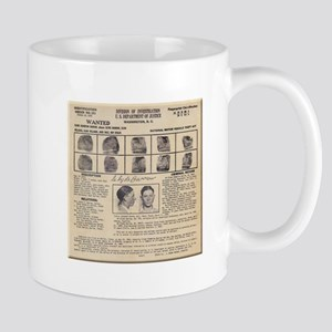 Clyde Barrow Wanted Poster Mugs