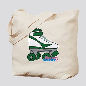 Roller Derby Skate Green Tote Bag