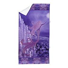 Lavender Mermaid Beach Towel
