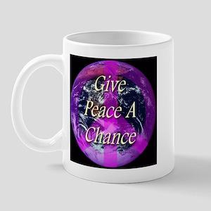 Planet Earth Give Peace A Cha Mug