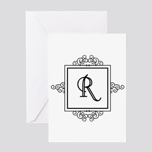Fancy letter r greeting cards cafepress fancy letter r monogram greeting cards altavistaventures Image collections