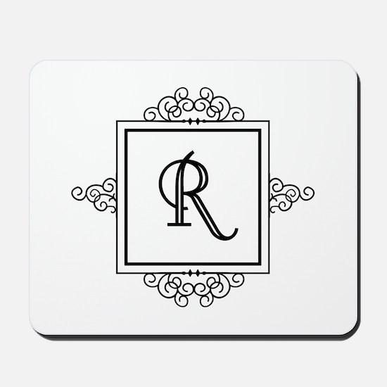 Fancy letter R monogram Mousepad