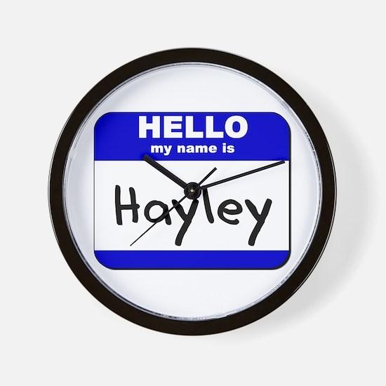 hello my name is hayley  Wall Clock