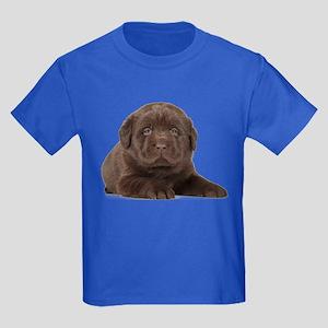 Chocolate Lab Puppy Kids Dark T-Shirt