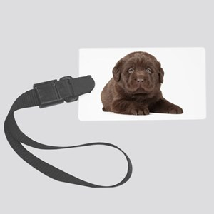 Chocolate Lab Puppy Large Luggage Tag