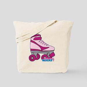 Roller Derby Skate Pink Tote Bag