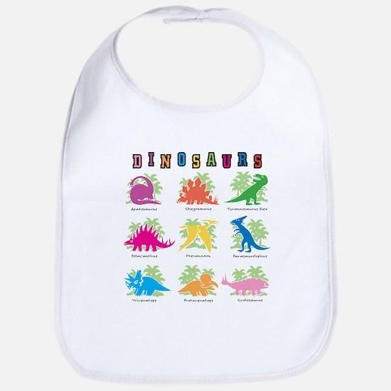 Nine Dinos Bib